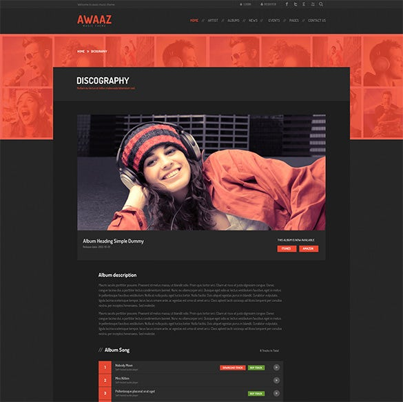 Music Artist Website Templates. music industry website templates ...