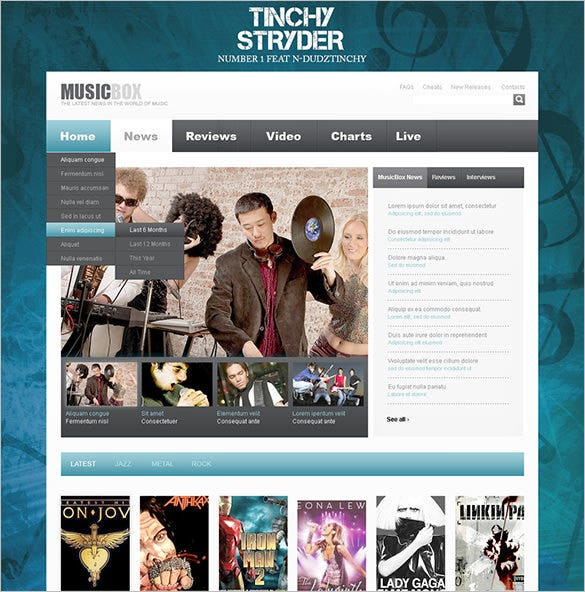 dj psd template download