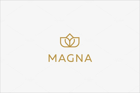 elegant premium flower crown logo