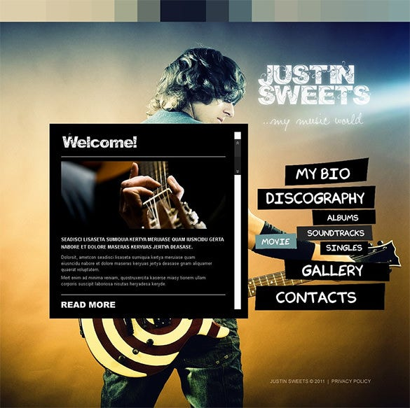 singer psd template download