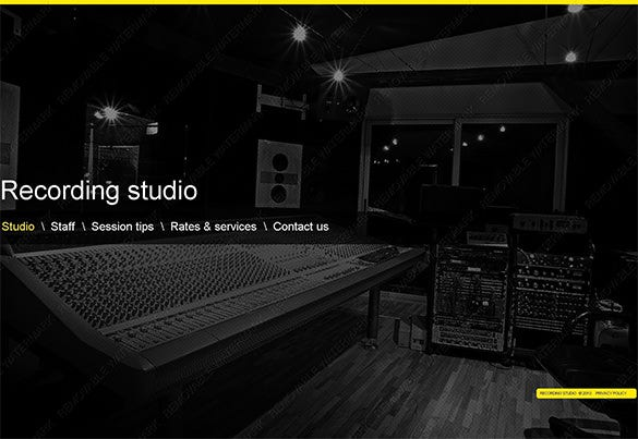 recording studio music psd template