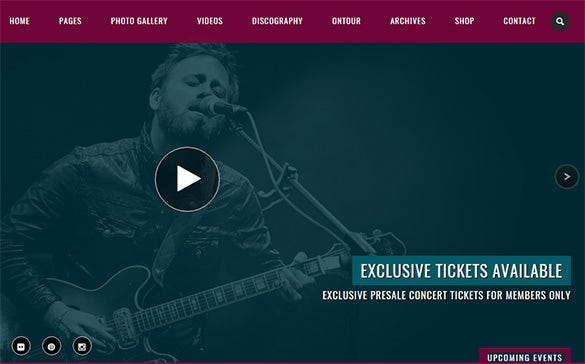 music music band wordpress theme