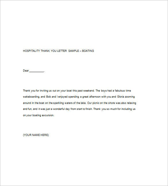 Sample Thank You Note 9 Free Word Excel Pdf Format