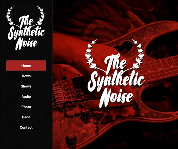 synthetic noise horizontal html5 template