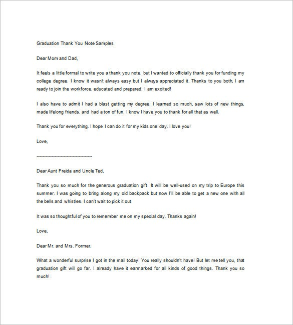 Sample Thank You Note   Free Word Excel Pdf Format Download