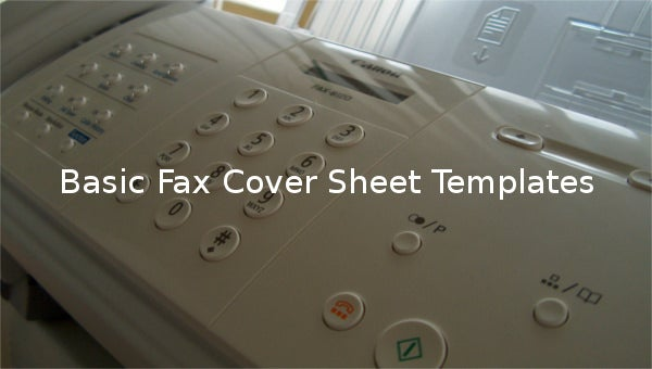 basic fax cover sheet templates