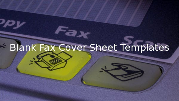 blank fax cover sheet templates