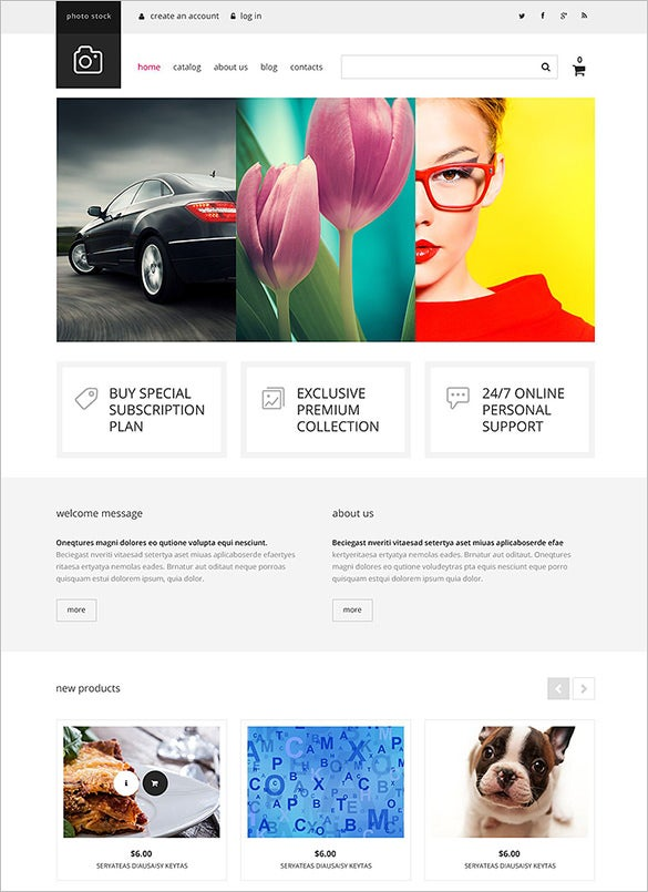 photography club virtuemart html5 theme