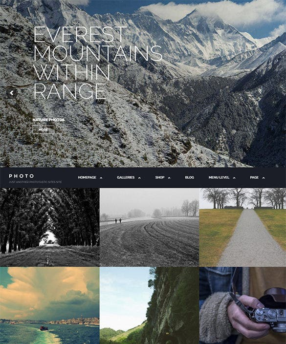 photography portfolio html5 theme