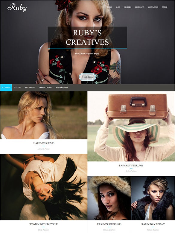 craetive photography html5 template