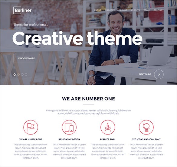 modern photography html5 wordpress template