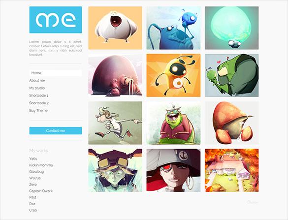 responsive personal photography html5 portfolio template