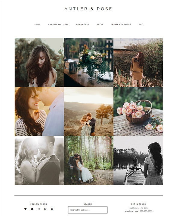 responsive photography wordpress html5 theme