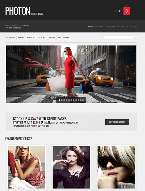 photography art store opencart template