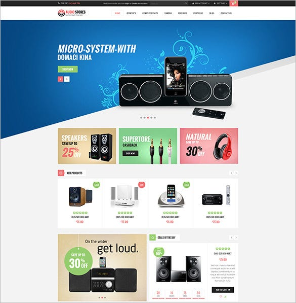 ves audio store responsive magento theme