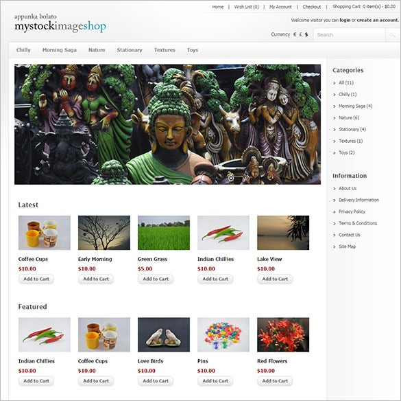 stocl image photography opencart template