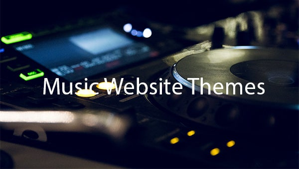 Music-Website-Themes