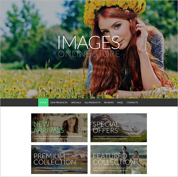photography online zencart template