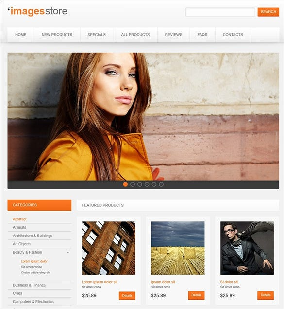 responsive photography zencart template