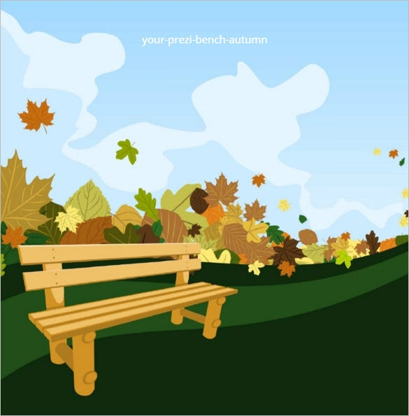 bench autumn free prezi template download