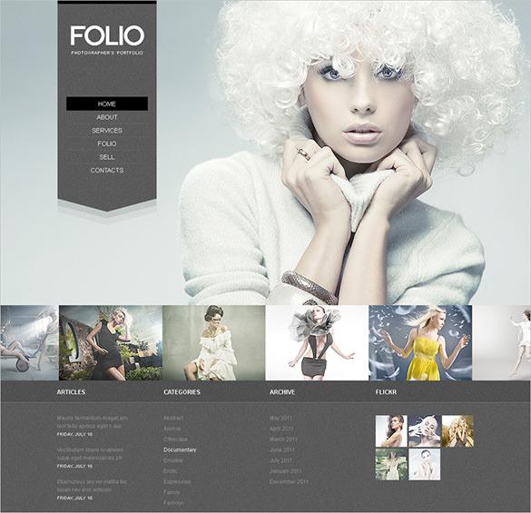 responsive photographer portfolio psd theme