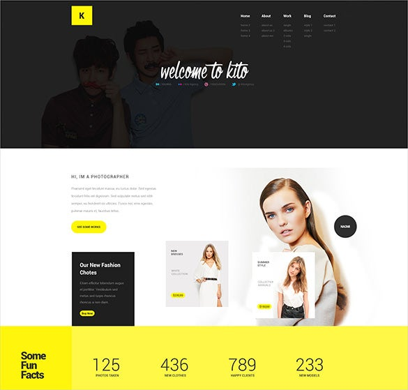 photography online psd template