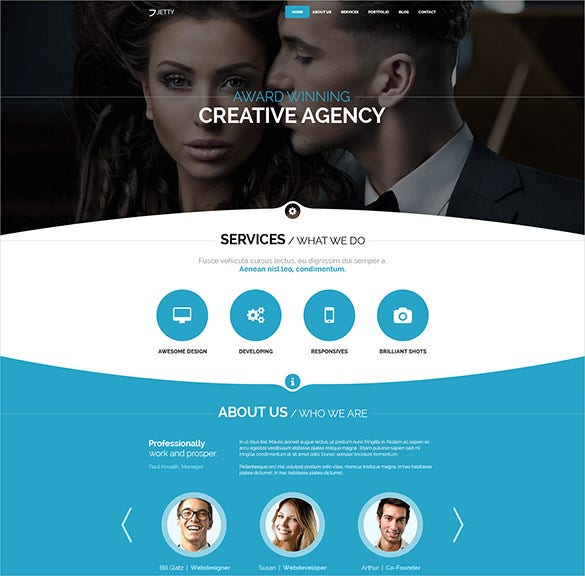 photography agency psd theme