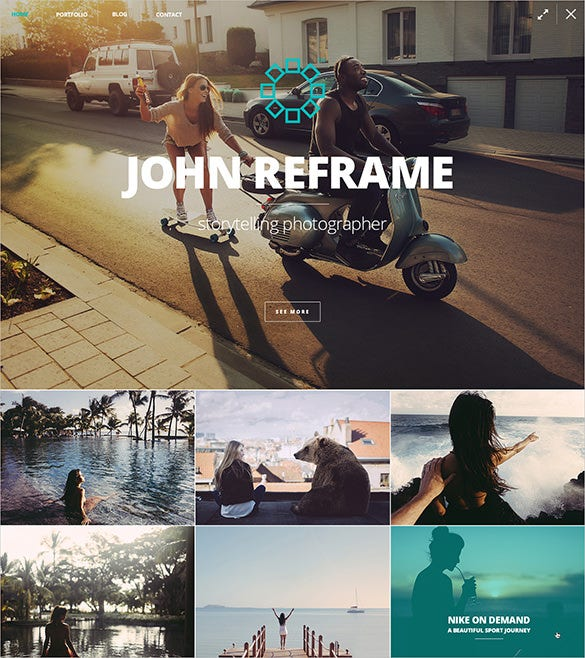 reframe photography psd theme