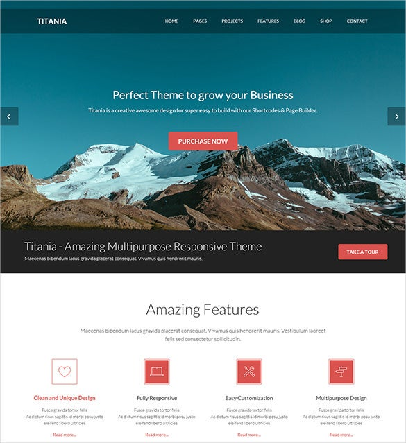 perfect photography psd theme