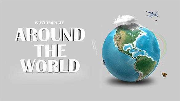 3d around the world prezi template
