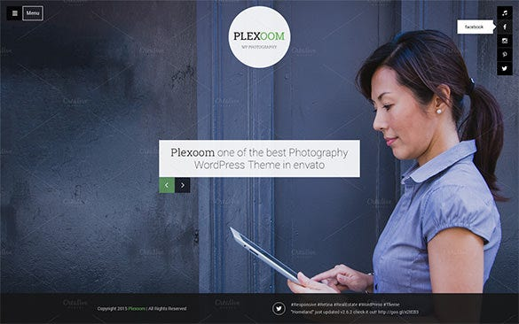 fullscreen photography psd theme
