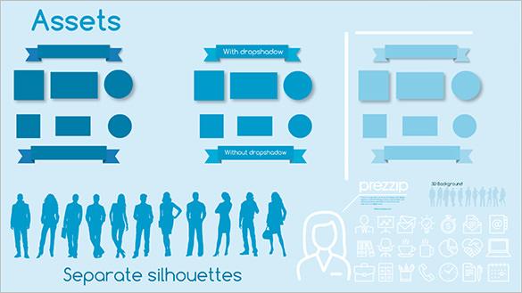 organization chart blue hr series business prezi