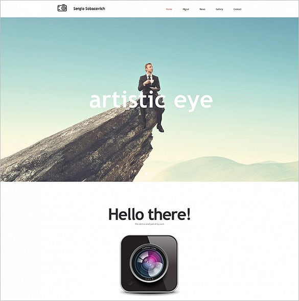 photography portfolio cms 3 bootstrap template