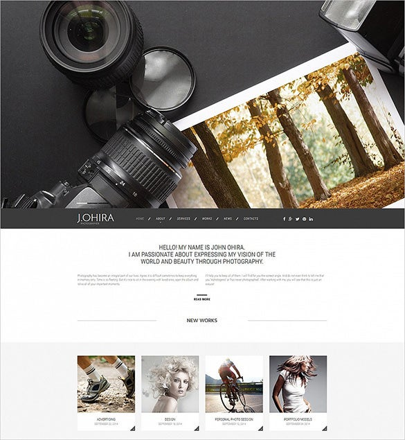 photography responsive moto cms 3 bootstraptheme