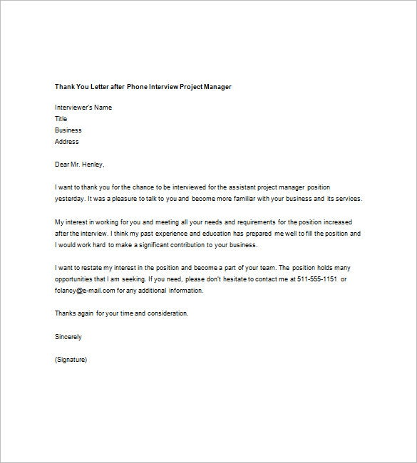 Thank You For Interview Letter From Employer from images.template.net