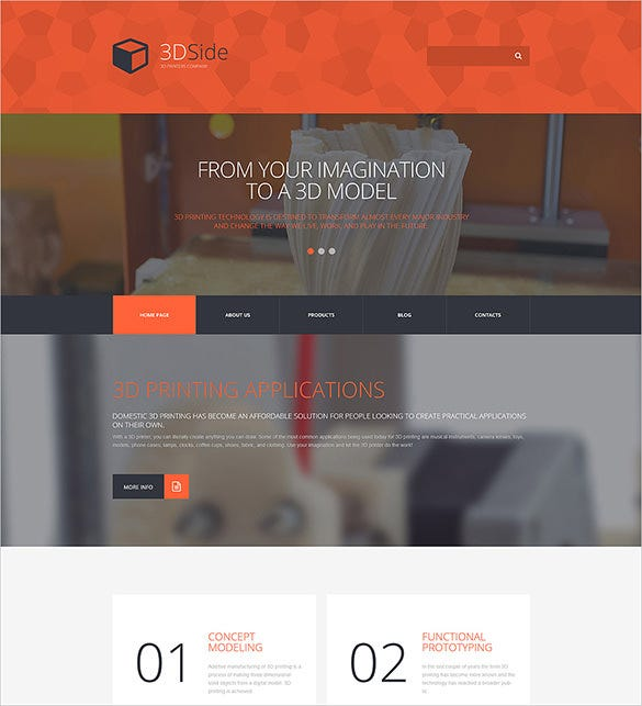 3d side photograpgy wordpress bootstrap theme