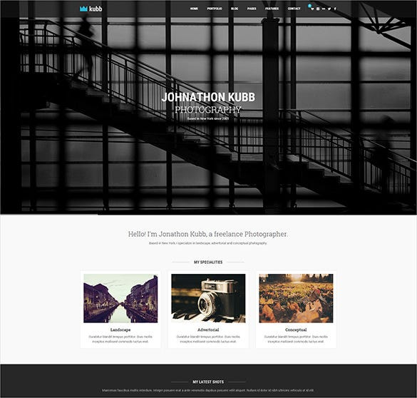 stunning photography magazine wordpress bootstrap template
