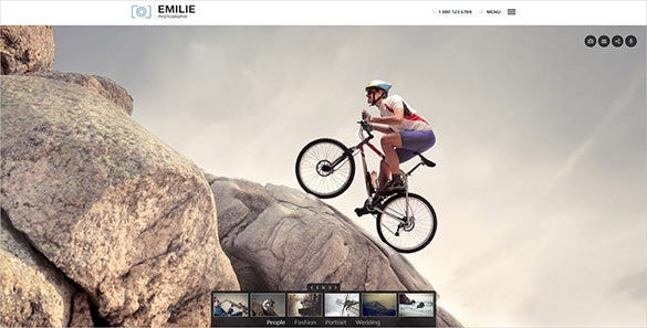 photography portfolio wordpress bootstrap template