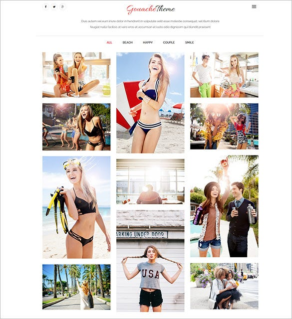 photography portfolio bootstrap theme