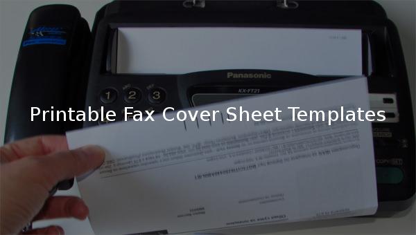 printablefaxcoversheettemplate