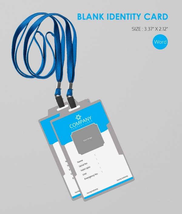 Modern Bland ID Card