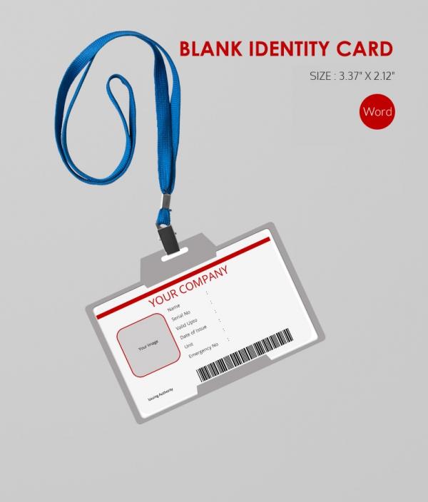 Editable Bland ID Card