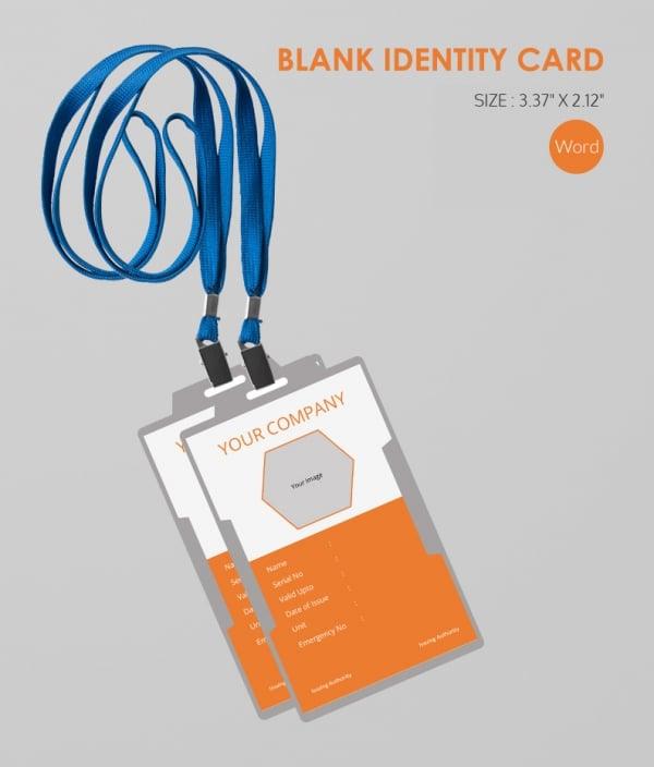 Formal Blank Id Card