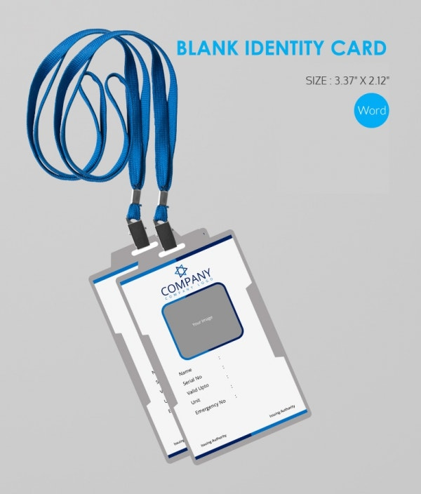 Simple Ms Word Format Blank ID Card