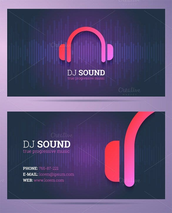 DJ And Music Business Card