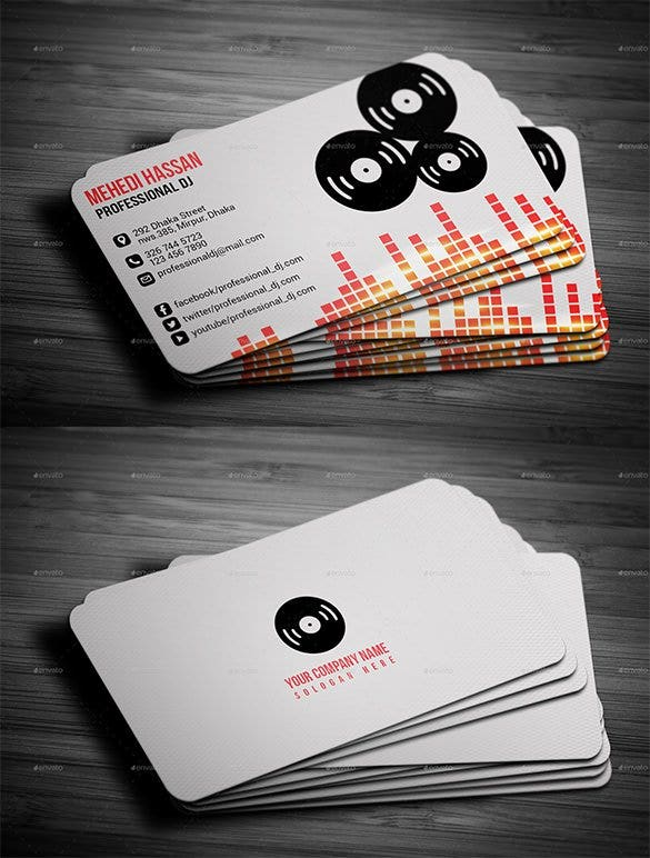 25 dj business cards free download free premium templates dj business card 5 reheart Choice Image
