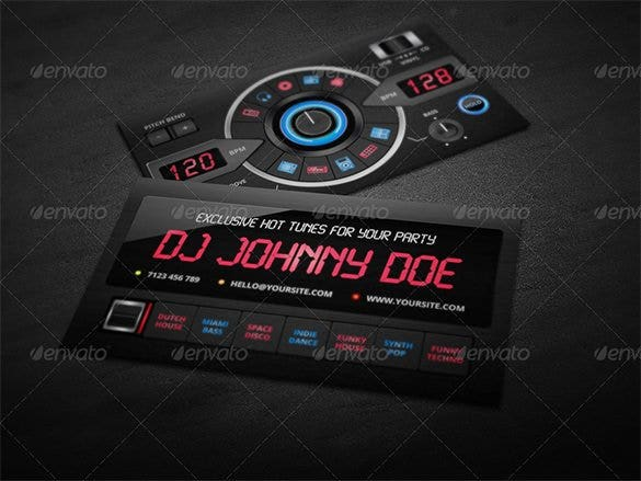 25 dj business cards free download free premium templates dj business card reheart Choice Image