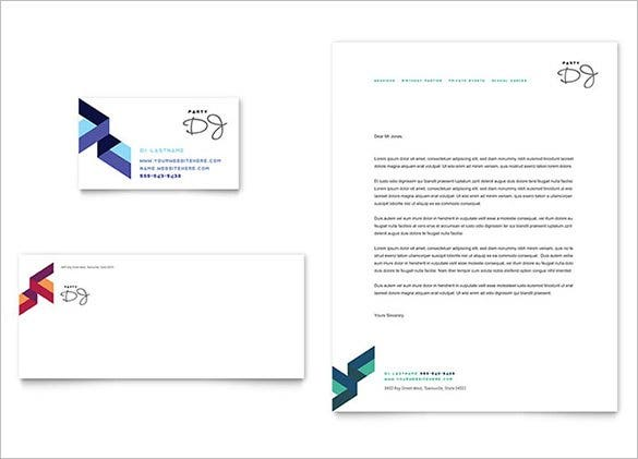 dj business card letterhead template1