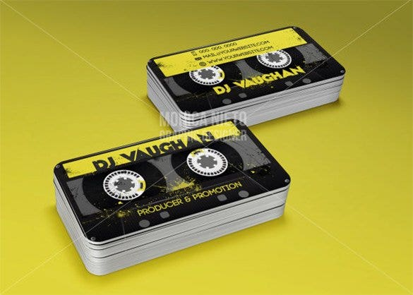 25 dj business cards free download free premium templates dj producer promoter business cards template flashek Image collections