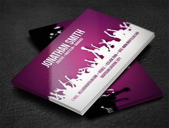 nightclub business card1